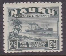 Nauru 1924 Freighter P.11 SG 37A Mint Hinged - Nauru