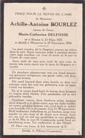 Ronse, Renaix, Mouscron, 1934, Achille Bourlez, Delfosse - Images Religieuses