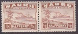 Nauru 1937 Freighter P.14 SG 26c Mint Hinged - Nauru
