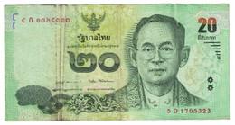 Billet, Thaïlande, 20 Baht, KM:109, TB - Thailand