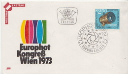 Austria Stamp On FDC - Photography