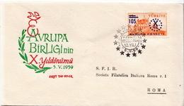 Turkey Stamp On Used FDC - European Ideas