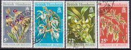British Honduras 1970 SG #287-90 Compl.set Used Orchids (2nd Series) - British Honduras (...-1970)