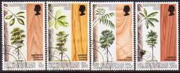 British Honduras 1970 SG #291-94 Compl.set Used Indigenous Hardwoods(2nd Series) - British Honduras (...-1970)