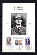 """Rareté """" HOMMAGE A DE GAULLE : 30 ANS DE L'APPEL DU 18 JUIN 1940 """" Sur Encart 4 Pages N°té. Parfait état Voir Les Scans - De Gaulle (General)"""