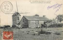 CPA 35 Ille Et Vilaine St Saint Malo De Phily La Ferme Et Le Moulin De La Butte - Francia