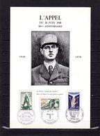 """Rareté """" HOMMAGE A DE GAULLE : 30 ANS DE L'APPEL DU 18 JUIN 1940 """" Sur Encart 6 Pages N°té. Parfait état Voir Les Scans - De Gaulle (General)"""