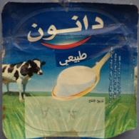 """Egypt - Couvercle De Yoghurt  Danone """"Natural"""" In Arabicl (foil) (Egypte) (Egitto) (Ägypten) (Egipto) (Egypten) Africa - Coperchietti Di Panna Per Caffè"""