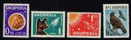 Albanien 1962/63, Michel# 663 - 665 + 742  **  Russian Space Explorations/ Golden Eagle (Aquila Chrysaetos) - Albania