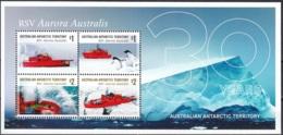 Australian Antarctic Territory 2018 Bloc Feuillet 30 Ans RSV Aurora Australis Neuf ** - Territoire Antarctique Australien (AAT)