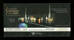 Brochure Informativa - Spettacolo Dell'acqua 2010 - Monteverde ( Avellino ) - Biglietti Per Concerti
