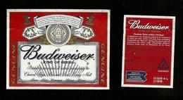 Etichetta - Birra Budweiser - Birra