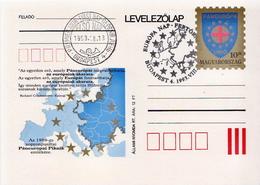 Hungary Cancelled Postal Stationery Card - European Ideas