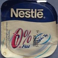 "Egypt - Couvercle De Yoghurt  Nestle ""0%"" (foil) (Egypte) (Egitto) (Ägypten) (Egipto) (Egypten) Africa - Coperchietti Di Panna Per Caffè"
