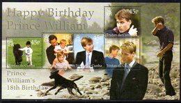 Tristan Da Cunha 2000 Prince William's 18th Birthday MS, MNH, SG 687 - Tristan Da Cunha