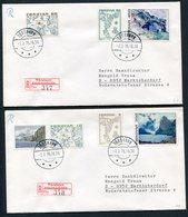 1975 Faroe Islands Maps + Views Definitives. Set Of 14 On 4 Registered Covers - Germany - Isole Faroer