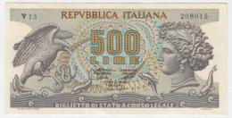 Italy 500 Lire 1966 ,  1967 XF Pick 93a - [ 2] 1946-… : Républic