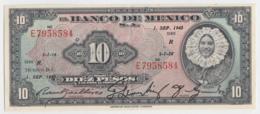 Mexico 10 Pesos 1943 AXF+ Pick 39b  39 B - Mexiko