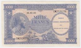 Belgian Congo 1000 Francs 1962 VF++ Pick 2 - [ 5] Belgisch Kongo