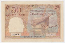 Djibouti French Somaliland 50 Francs 1952 AUNC+ Pick 25 - Djibouti