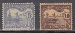 Nouvelle-Calédonie Tx 16 + 17 * - Portomarken