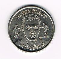 //  TOKEN DAVID PLATT - OFFICIAL  ENGLAND  SQUAD  1969 - Regno Unito