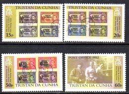 Tristan Da Cunha 2002 50th Anniversary Of 1st Stamp Issue Set Of 4, MNH, SG 735/8 - Tristan Da Cunha