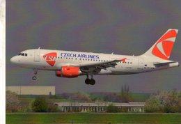 A-319  -  CSA Czech Airlines - Prague 2008  -  CPM - 1946-....: Ere Moderne