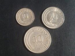 Vintage Singapore Coins Set : Marine Series Sea Horse, LionFish &  Sword Fish (10, 20 & 50 Cents) - Singapur