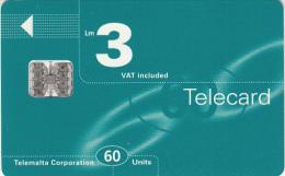 MALTA - Maltacom Telecard Lm 3/60 Units, CN : C69165776, 02/97, Used - Malta