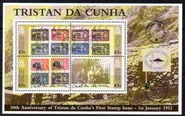 Tristan Da Cunha 2002 50th Anniversary Of 1st Stamp Issue MS, MNH, SG 739 - Tristan Da Cunha