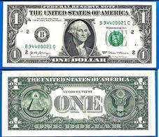 USA 1 Dollar 2017 NEUF UNC Mint New York B2 Suffixe C United States America Etats Unis Dollars Paypal OK - Billets De La Federal Reserve (1928-...)