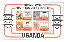 Uganda Sheet Mnh ** Blood Pressure Health Medicine 1978 - Uganda (1962-...)