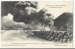 HOBOKEN -  Incendie Des Tanks à Pétrole De Hoboken-Anvers, Vue Intérieure Des Installations De L'American Petroleum C° - Antwerpen
