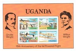 Uganda Sheet Mnh ** Wright Brothers Airplane Avion 1978 - Uganda (1962-...)
