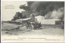 HOBOKEN -  Incendie Des Tanks à Pétrole De Hoboken-Anvers, Les Pompiers Sont Impuissants - Antwerpen