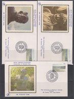 "AAT 1986 Anare Project Blizzard / Conservation Of Mawson's Hus 3 Covers ""SILK"" (43976) - Australisch Antarctisch Territorium (AAT)"