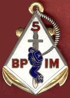 ** INSIGNE  5  B. P. I. M. ** - Marine