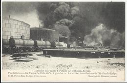 HOBOKEN -  Incendie Des Tanks à Pétrole De Hoboken-Anvers, Vue Intérieure Des Tanks De Eiffe & C° à Gauche... - Antwerpen