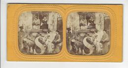 ALPHABET DES COSTUMES S SAVOYARDS FURNE Et TOURNIER PHOTO STEREO CIRCA 1855 1860 Défaut /FREE SHIPPING REGISTERED - Stereoscopio