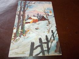 B623  Buon Natale Cm14x9 Viaggiata Pieghina Angolo - Non Classificati