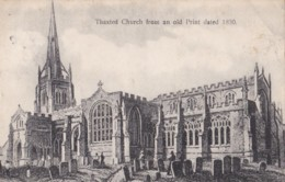 AN35 Thaxted Church From An Old Print Dated 1830 - Local Publisher - England