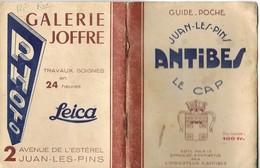 Alpes Maritimes, Antibes Juan Les Pins, Guide Syndicat D Initiative, 1950    (etat Voir Photos)  Dim: 14 X 10.5. - Dépliants Touristiques