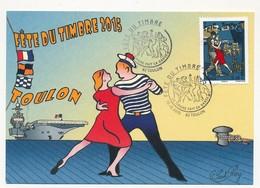 FRANCE - Carte Locale Fête Du Timbre 2015 - Le Tango - 83 TOULON 10/10/2015 - Cartes-Maximum