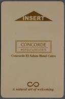 Concorde Hotels & Resorts, Concorde El Salam Hotel Cairo, Egypt. - Cartes D'hotel