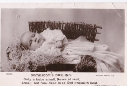 AP63 Children - Small Baby, Somebody's Darling - RPPC - Babies