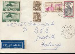 KATANGA INCOMING MAIL FROM ITALY RO JADOVILLE - Katanga