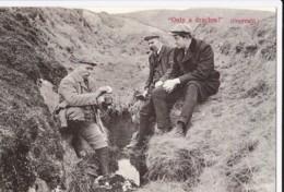 AP64 Social History - Workers Having A Break - Irish Reproduction Postcard - Professions