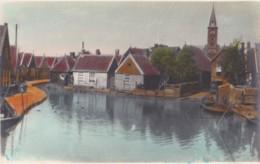 AQ50 Unidentified Village Scene With Church, Possibly Volendam - Netherlands