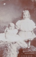 AQ50 RPPC - Young Girl And Baby - Children And Family Groups
